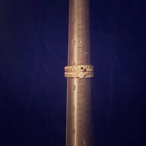 Two Size 7 1/2 10k gold rings